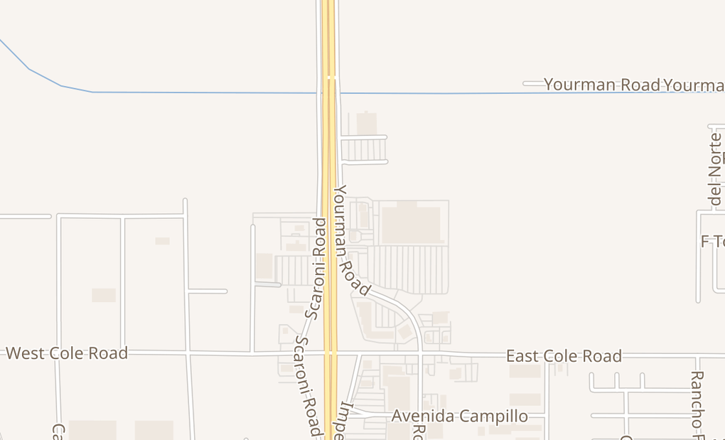 map of 2536 Rockwood Ave Ste 104-105Calexico, CA 92231
