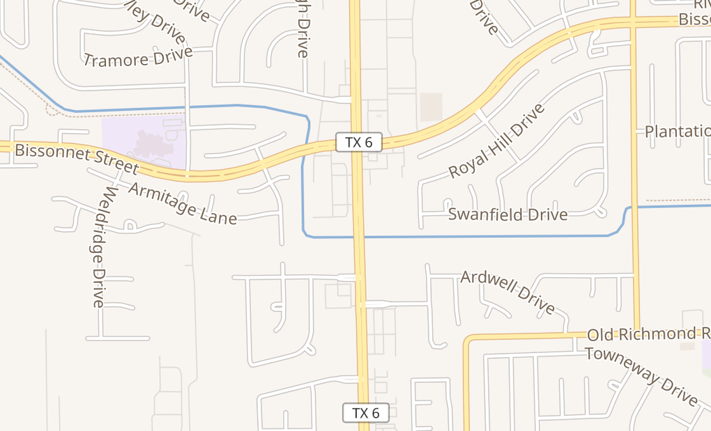 map of 9478 Highway 6 SHouston, TX 77083