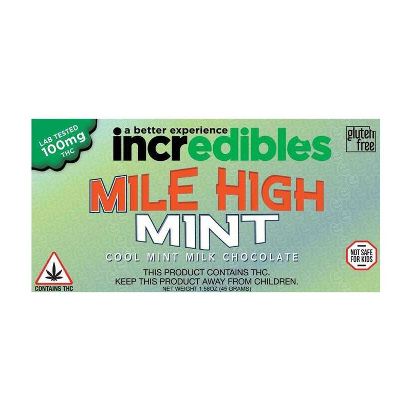 Incredibles Mile High Mint Bar 100mg | (H) - GTI