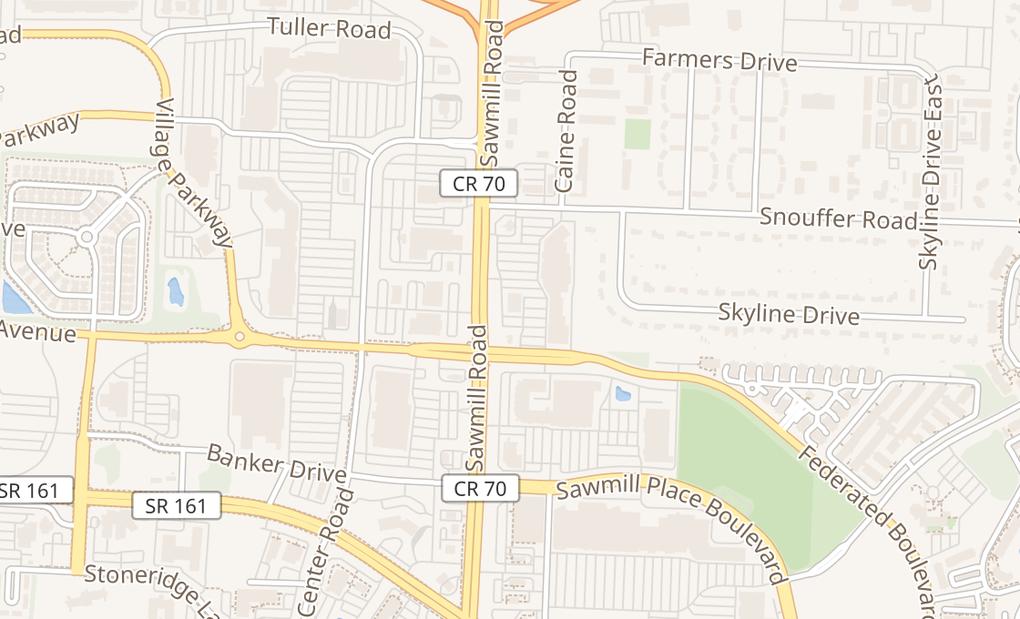 map of 6614 Sawmill RdColumbus, OH 43235