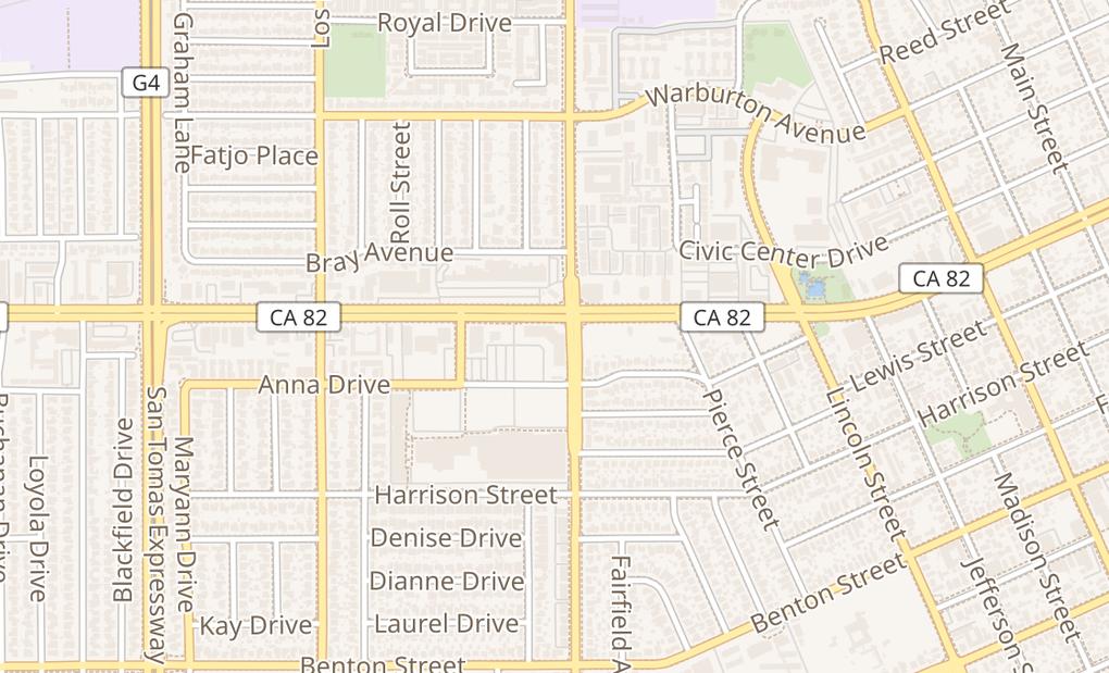 map of 2000 El Camino Real Ste 7Santa Clara, CA 95050