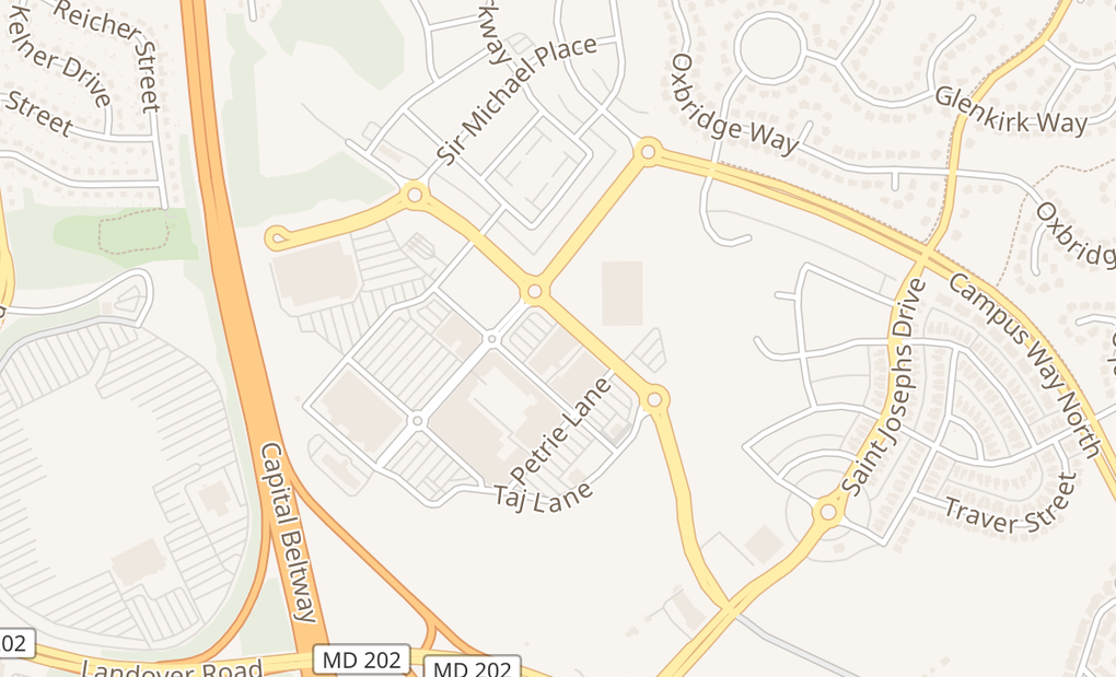 map of 2700 Campus Way N Ste 102Lanham, MD 20706