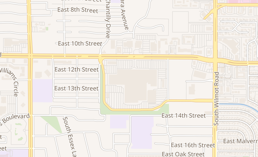map of 5870 E Broadway Blvd Spc 0240Tucson, AZ 85711