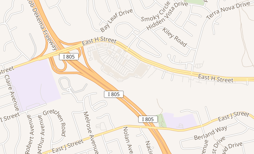 map of 386 E H St Ste 214Chula Vista, CA 91910