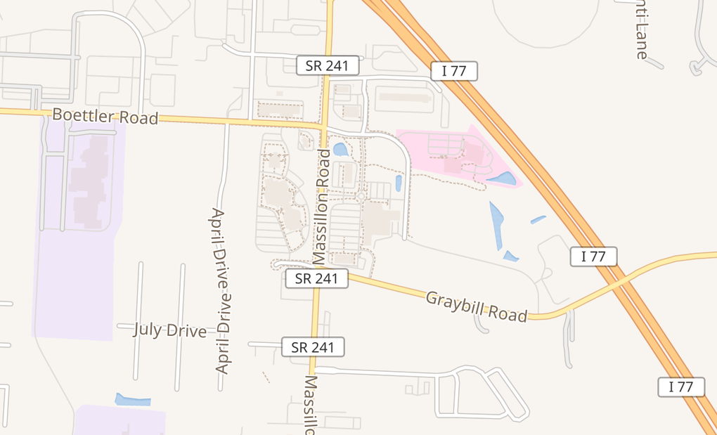 map of 3875 Massillon Rd Ste 120Uniontown, OH 44685