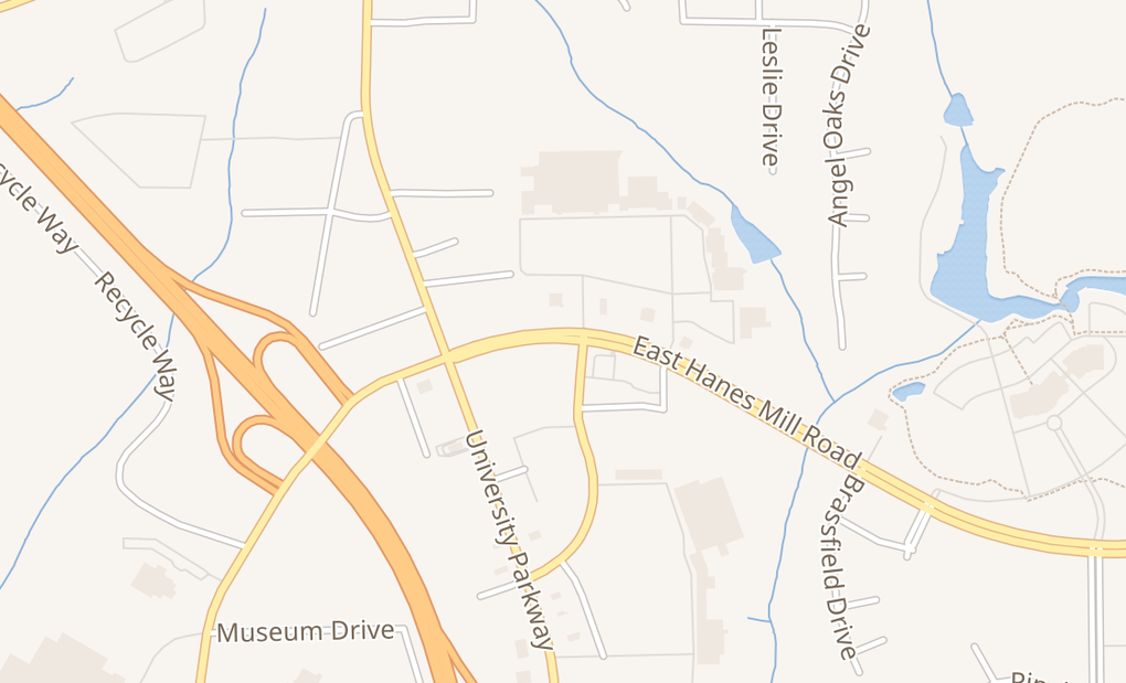 map of 353 E Hanes Mill RdWinston Salem, NC 27105