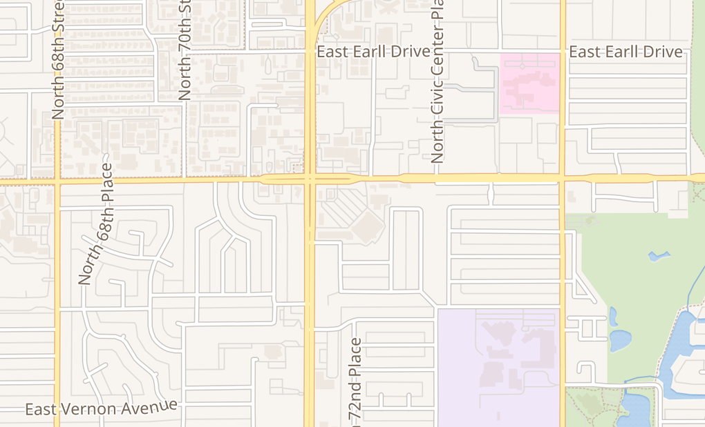 map of 2765 N Scottsdale Rd Ste 109Scottsdale, AZ 85257