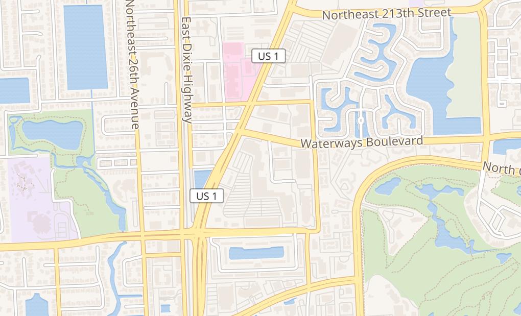 map of 20633 Biscayne BlvdAventura, FL 33180