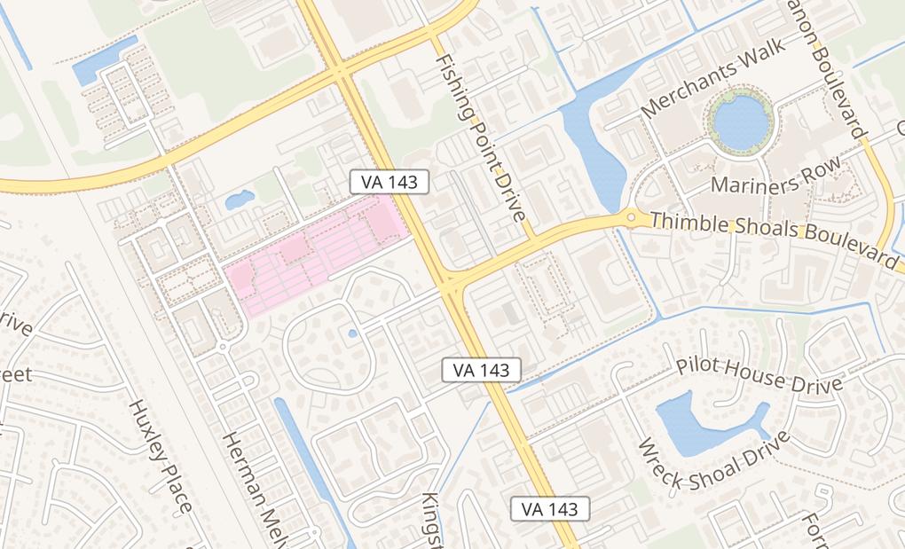 map of 601 Thimble Shoals Blvd Ste 170Newport News, VA 23606