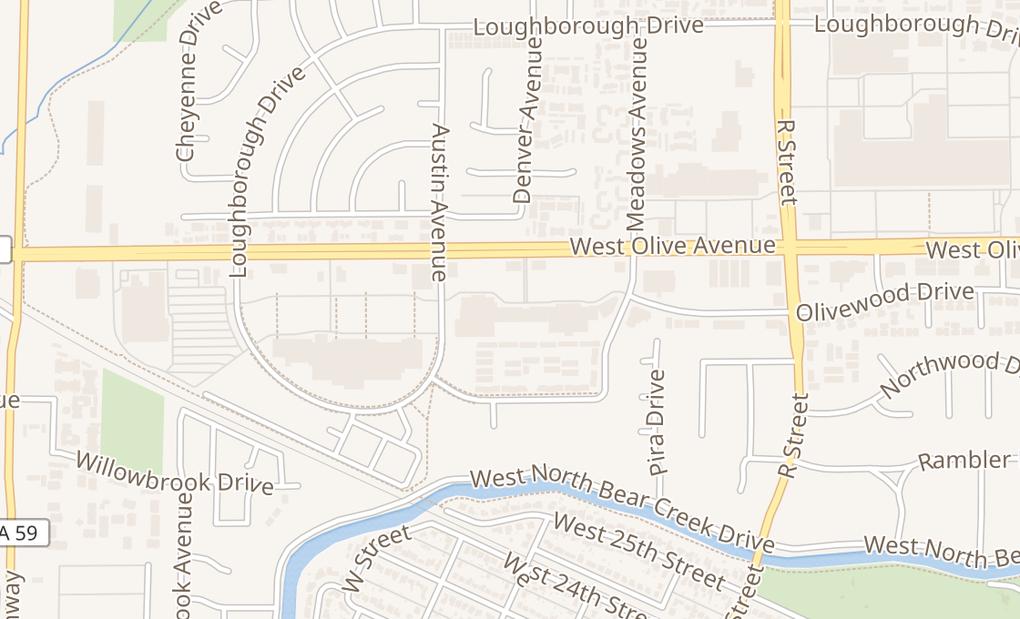 map of 1372 W Olive AveMerced, CA 95348