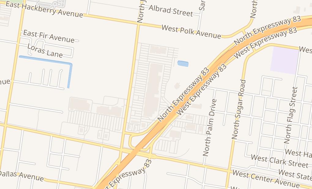 map of 500 N Jackson Rd #P3Pharr, TX 78577