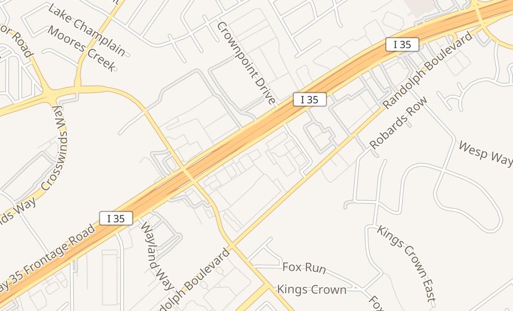 map of 11726 N Interstate 35 Ste 101San Antonio, TX 78233