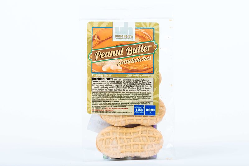 Peanut Butter Sandwiches 100mg - Uncle Herbs
