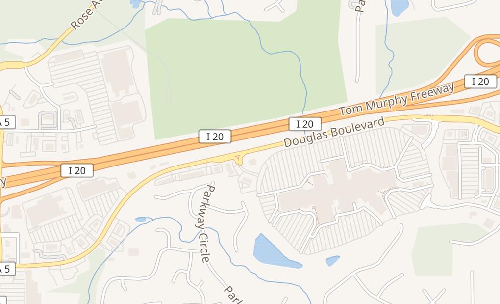 map of 6700 Douglas Blvd Ste 1510Douglasville, GA 30135