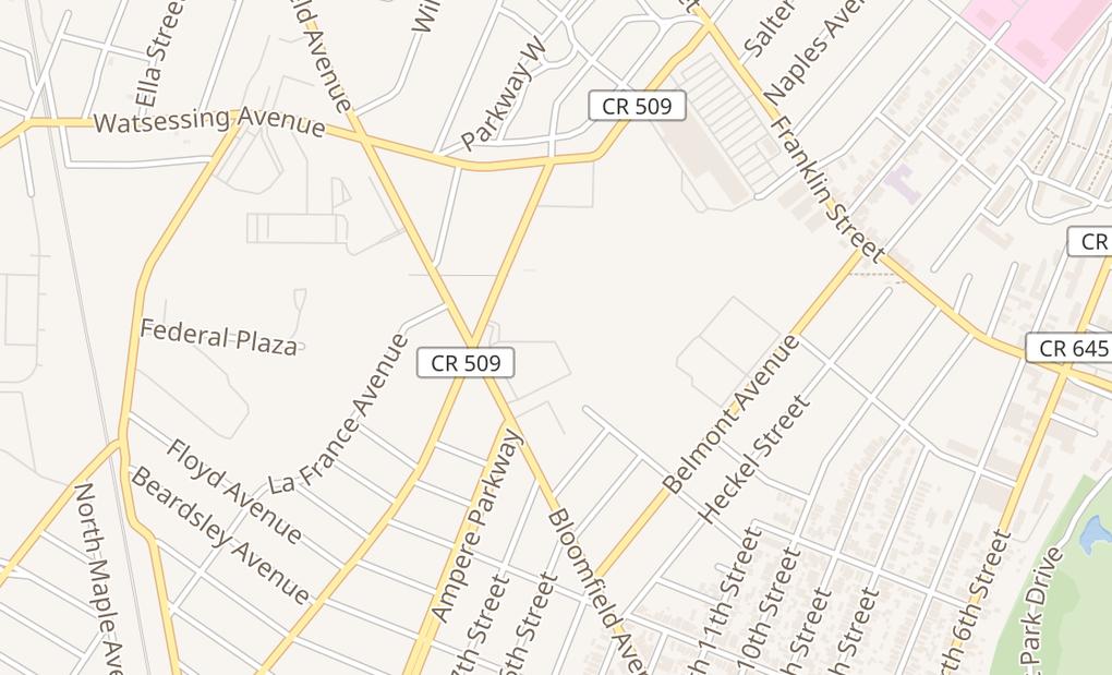 map of 135 Bloomfield AveBloomfield, NJ 07003
