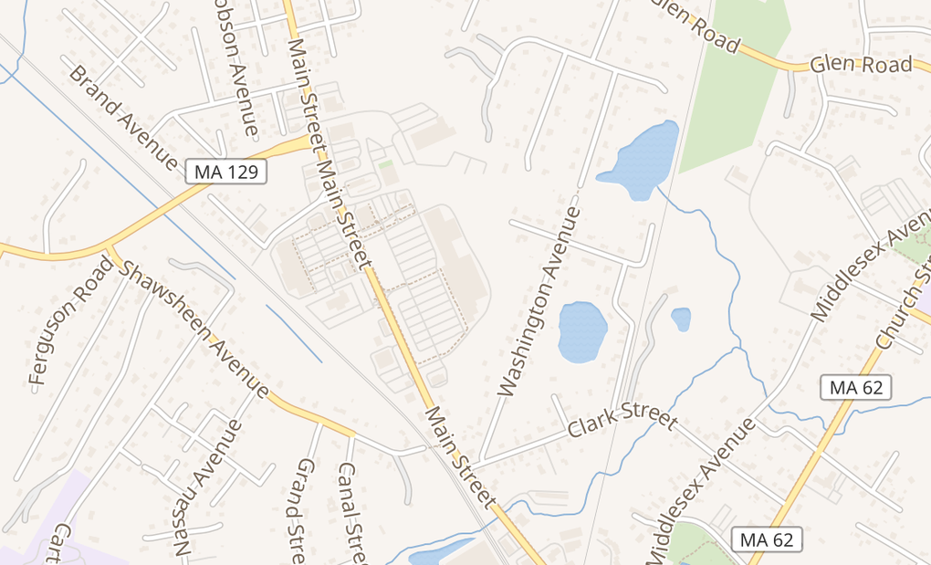 map of 260 Main St # 254Wilmington, MA 01887