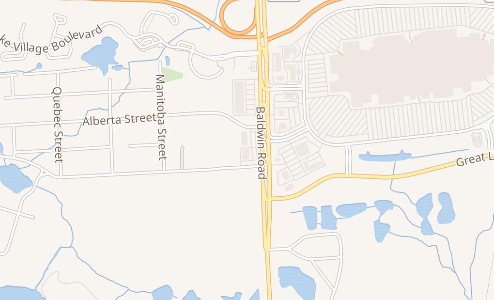 map of 3917 Baldwin RdAuburn Hills, MI 48326
