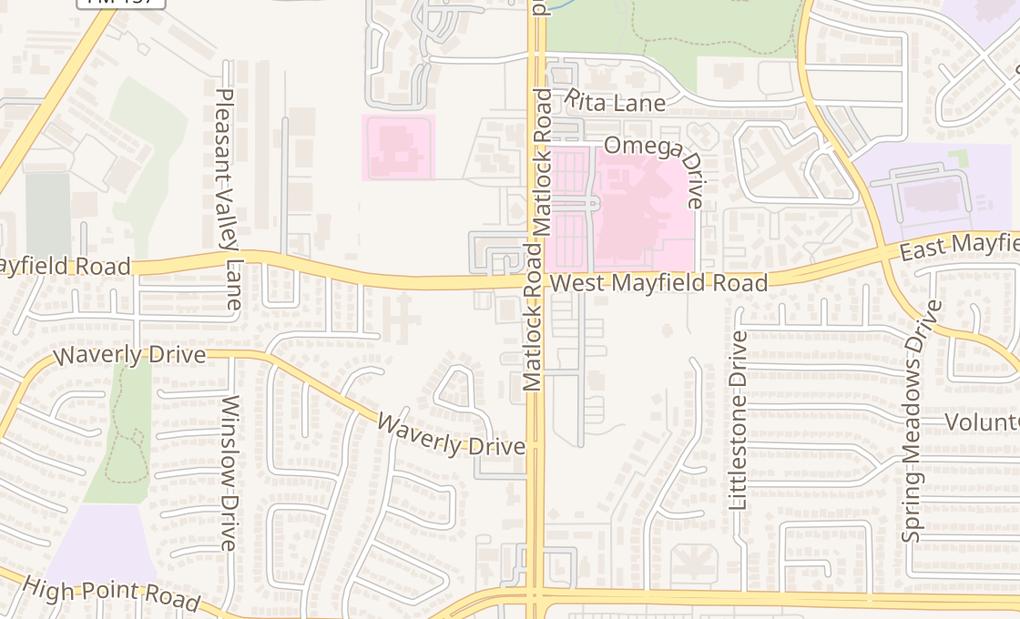 map of 3400 Matlock RdArlington, TX 76015