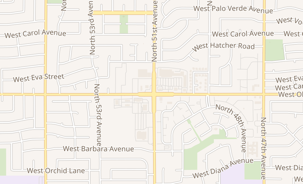 map of 5102 W Olive Ave Ste 101Glendale, AZ 85302