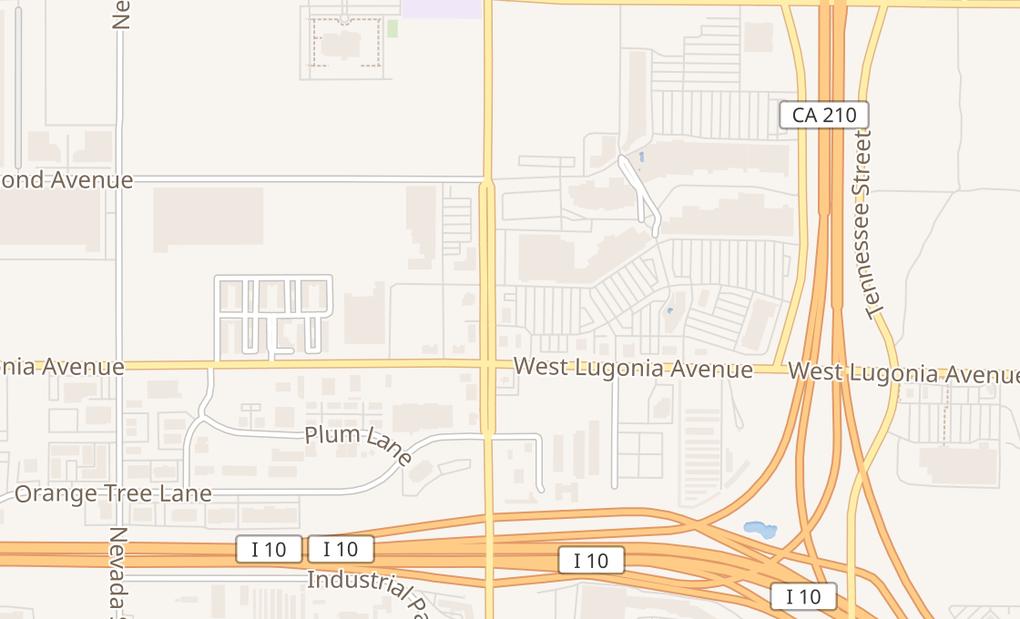 map of 27310 Lugonia AveRedlands, CA 92374