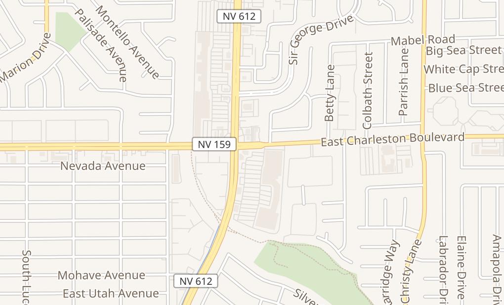 map of 5111 E Charleston Blvd Ste BLas Vegas, NV 89142