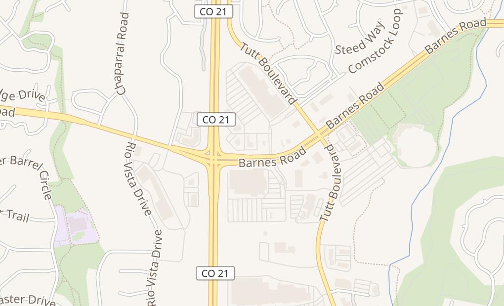 map of 5856 Barnes RdColorado Springs, CO 80922