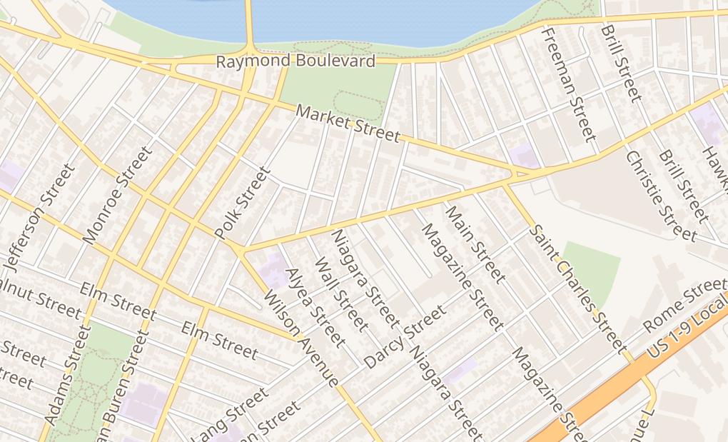 map of 281 Ferry StNewark, NJ 07105