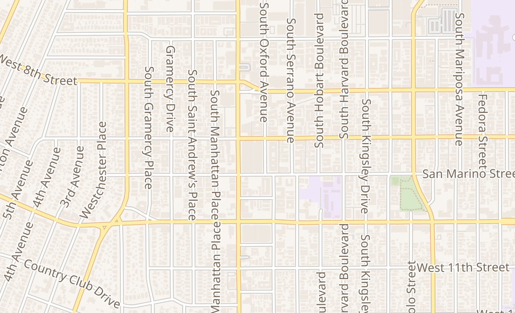 map of 928 S Western Ave Ste 151Los Angeles, CA 90006