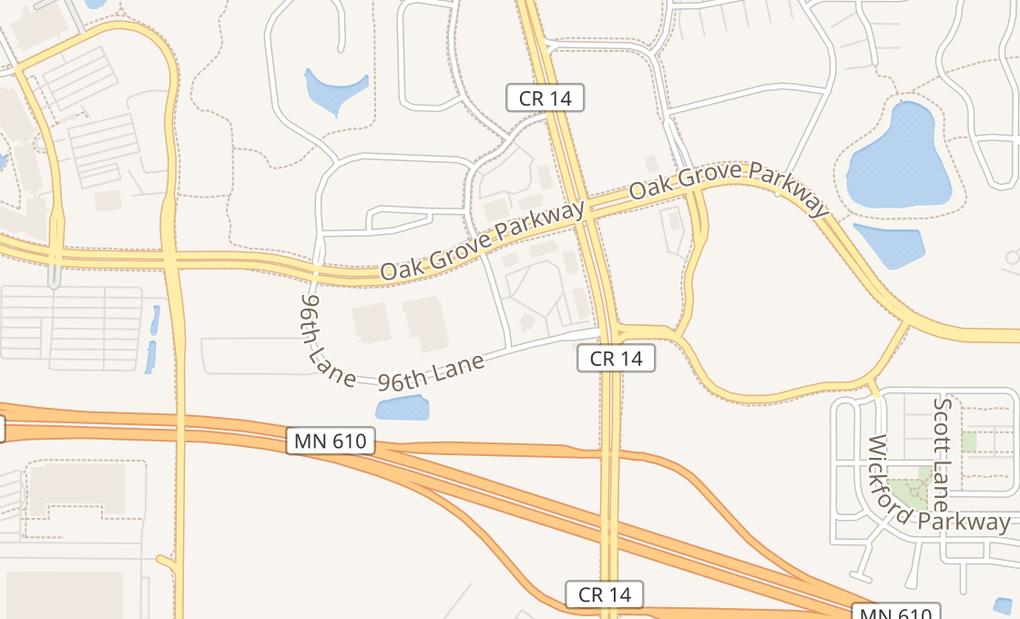 map of 9634 Colorado Ln NBrooklyn Park, MN 55445