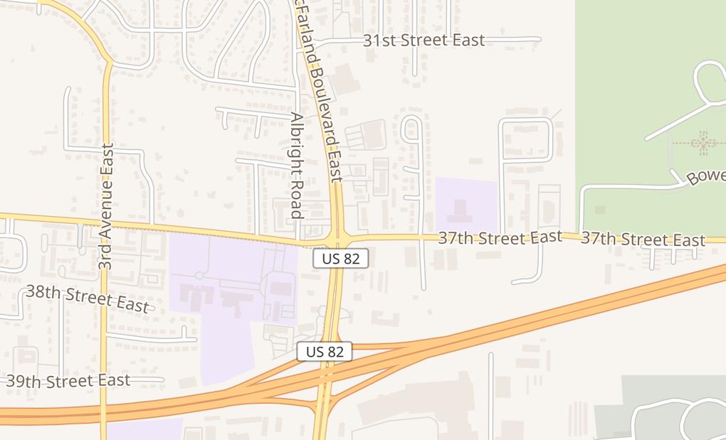 map of 3615 Mcfarland Blvd E Ste 104Tuscaloosa, AL 35405