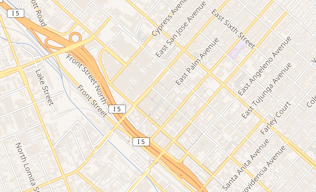 map of 321 N San Fernando BlvdBurbank, CA 91502