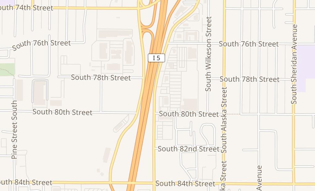 map of 7921 S Hosmer StTacoma, WA 98408