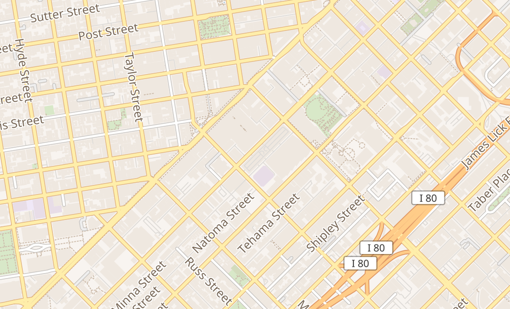 map of 843 Mission St #FSan Francisco, CA 94103