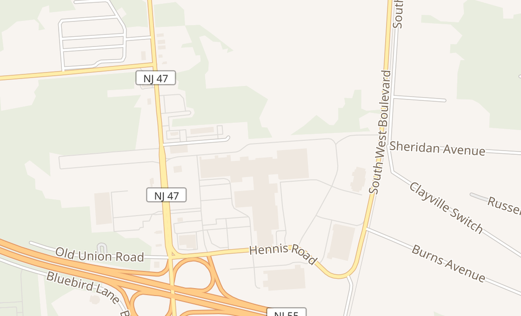 map of 3849 S Delsea Dr Ste A0010Vineland, NJ 08360