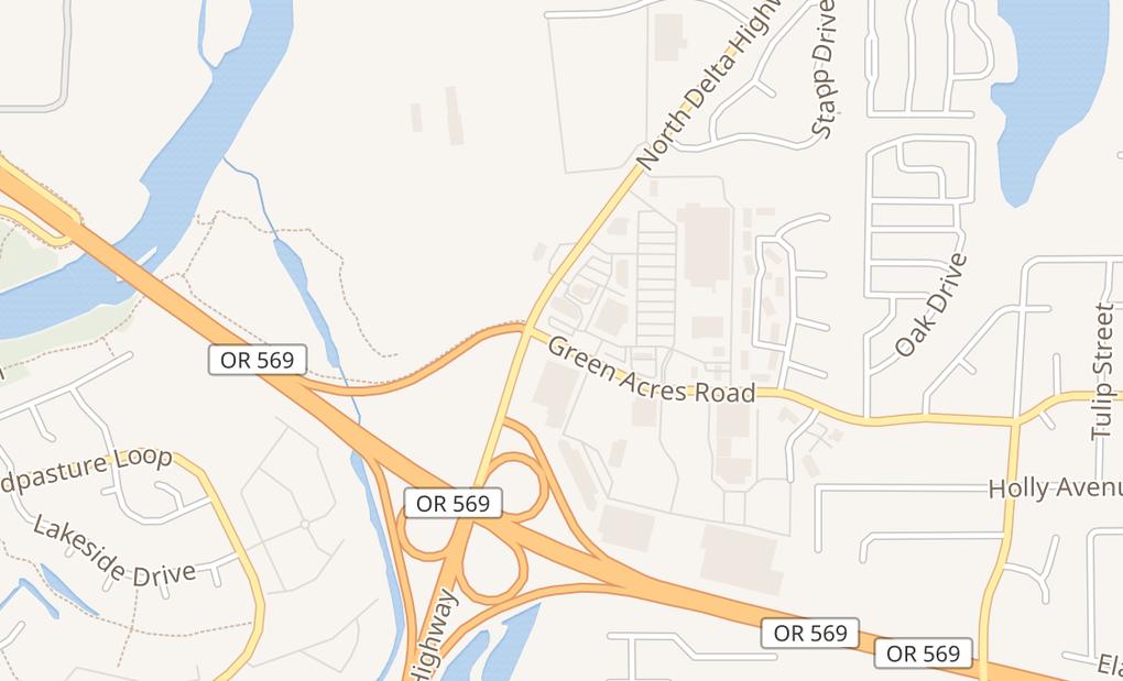 map of 1005 Green Acres Rd Ste 105Eugene, OR 97408