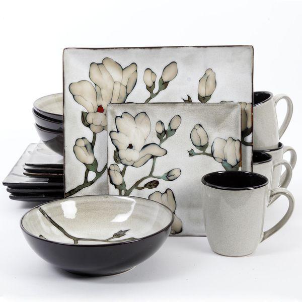 Tabletops Unlimited 16PC Porcelain Dinnerware Set- Soleil - Lithonia ...