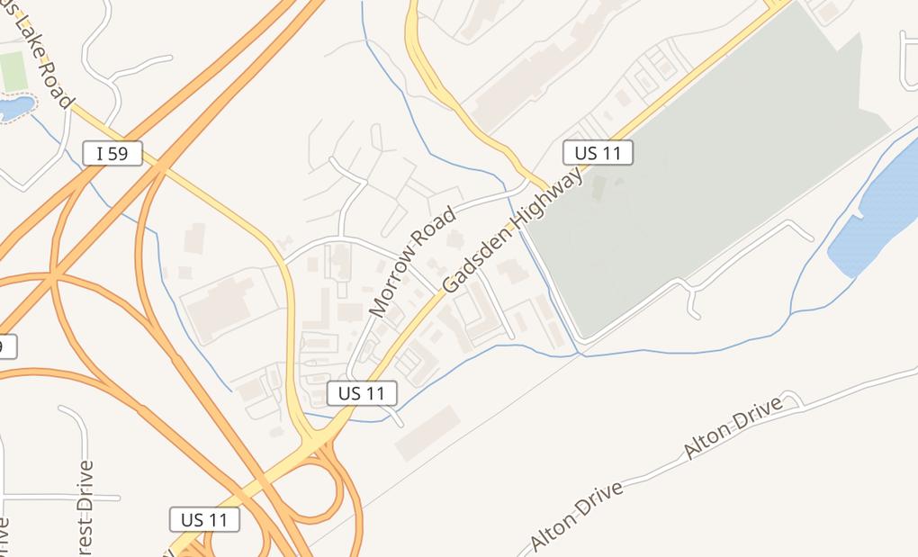 map of 1483 Gadsden Hwy Ste 128Birmingham, AL 35235