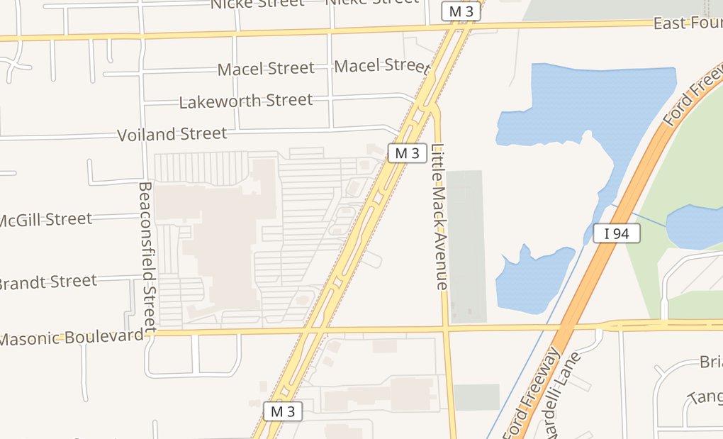 map of 32423 Gratiot Ave Spc 860Roseville, MI 48066