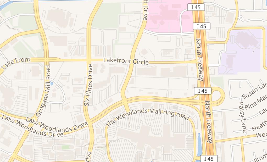 map of 1440 E Lake Woodlands Dr Ste ESpring, TX 77380