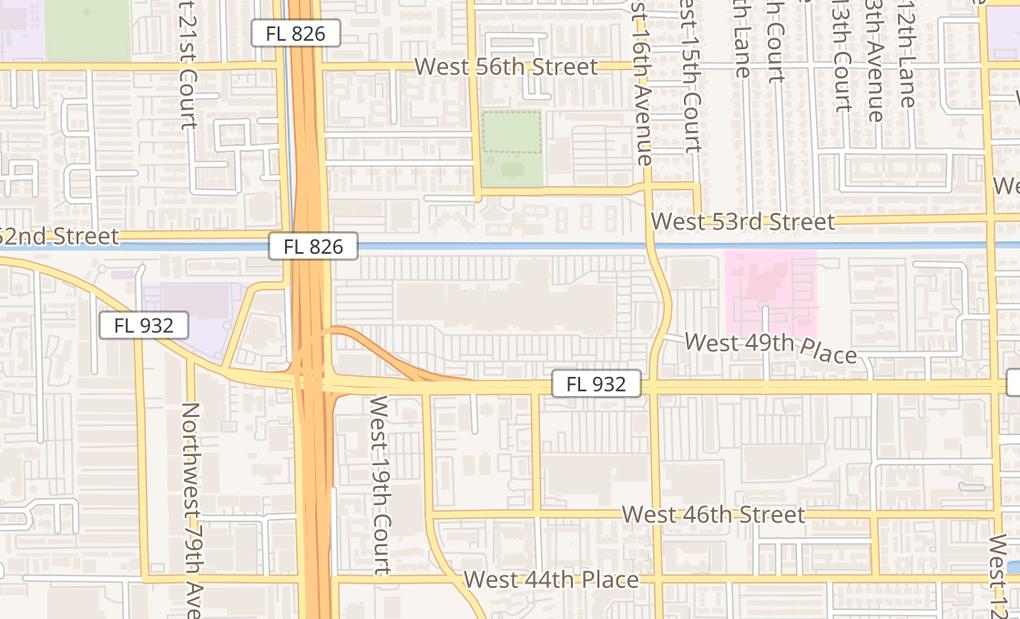 map of 1675 W 49Th St Unit 1404Hialeah, FL 33012