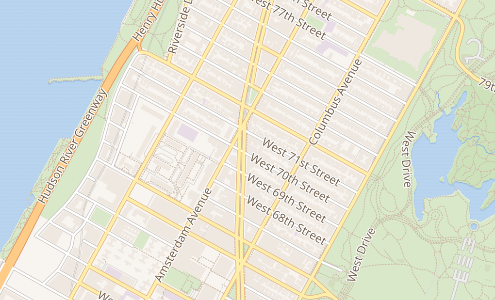 map of 2040 BroadwayNew York, NY 10023