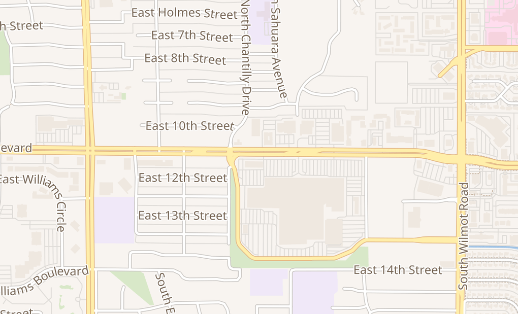 map of 5870 E Broadway Blvd Spc 5569Tucson, AZ 85711