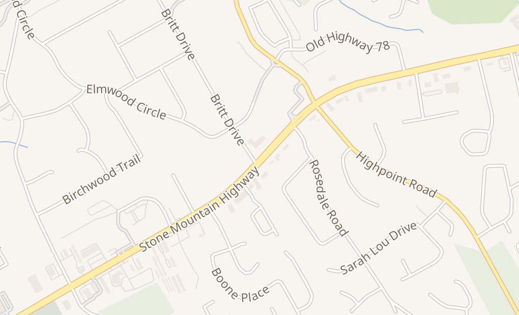 map of 3293 Stone Mountain Hwy SW Ste CSnellville, GA 30078