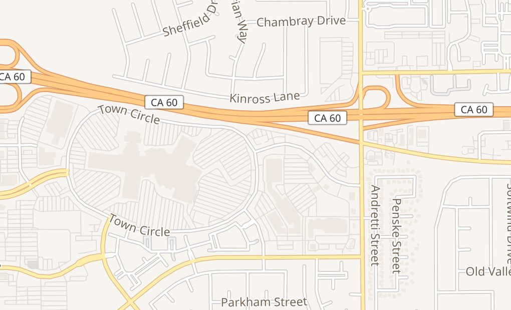 map of 22500 Town Circle Ste 1180Moreno Valley, CA 92553