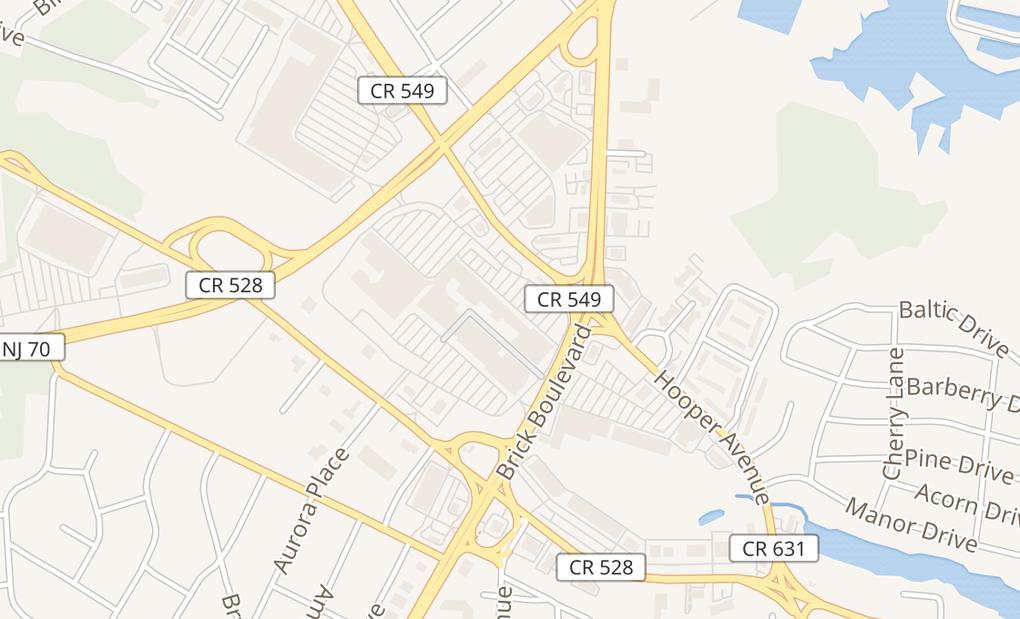 map of 22 Brick PlazaBricktown, NJ 08723