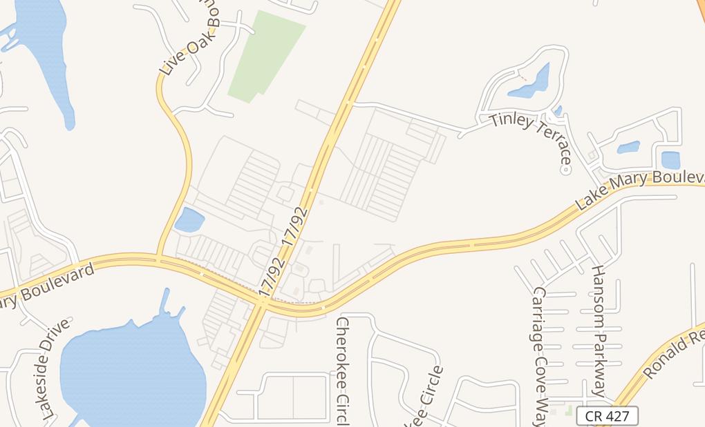 map of 3705 S Orlando DrSanford, FL 32773