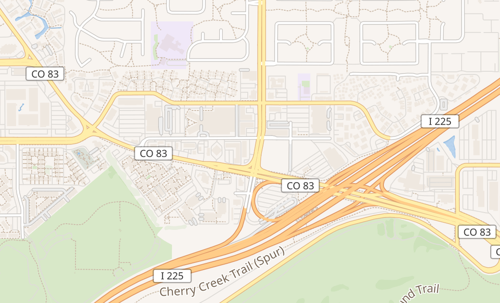 map of 3105 S Peoria St Unit IAurora, CO 80014