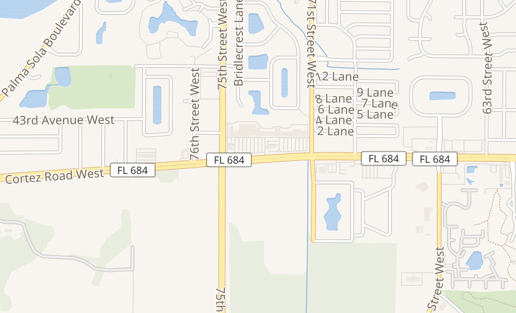 map of 7342 Cortez Rd WBradenton, FL 34210