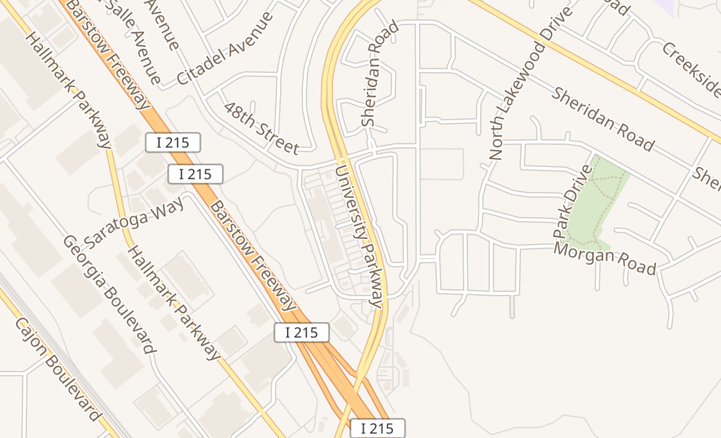 map of 4434 University Pkwy Ste KSan Bernardino, CA 92407