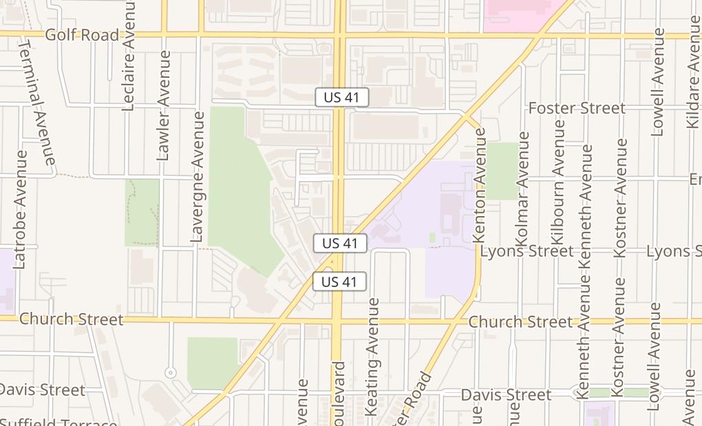 map of 9323 Skokie BlvdSkokie, IL 60077